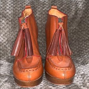 Coach Shoes - Coach Cary Tassel Moc Toe Ankle Boots Size 8